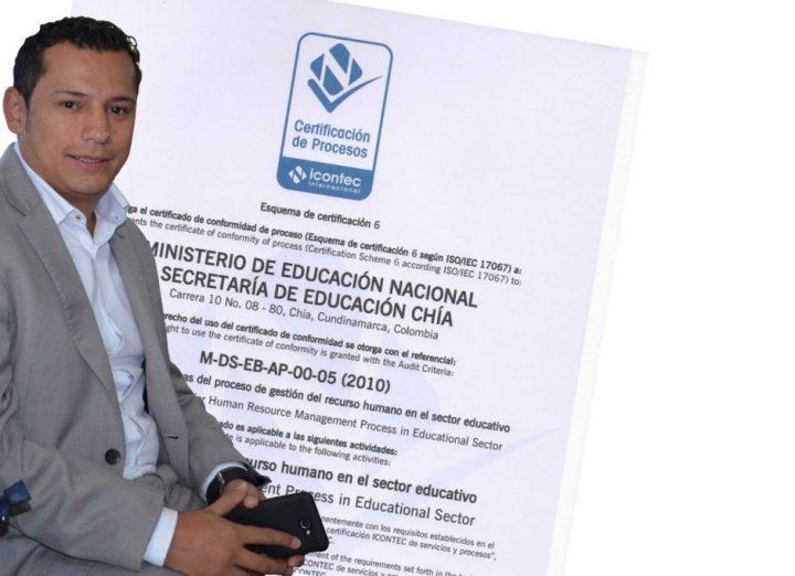 Secretaría de Educación de Chía fue certificada por el Icontec.