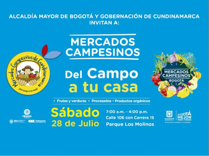 Este fin de semana, los mercados campesinos llegan a tres parques de Bogotá