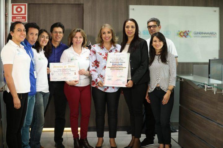 Reconocimiento al grupo Hospitales Verdes y Saludables de Cundinamarca
