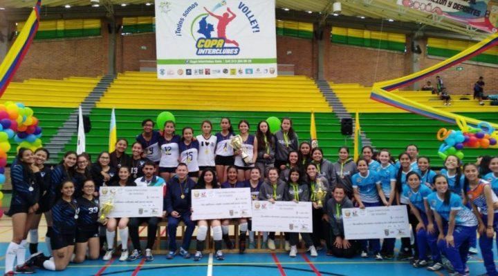 SOPÓ, GUADUAS Y PORVENIR FUERON LOS MEJORES DE LA COPA INTERCLUBES DE VOLEIBOL
