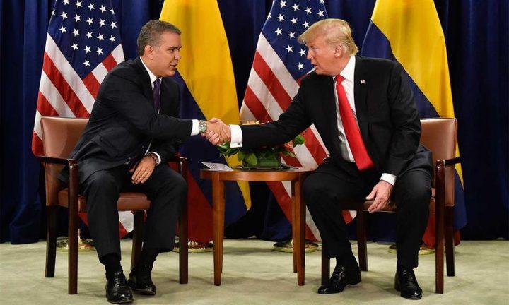 Respaldo total de Trump a fuerte lucha del Presidente Duque contra el narcotráfico