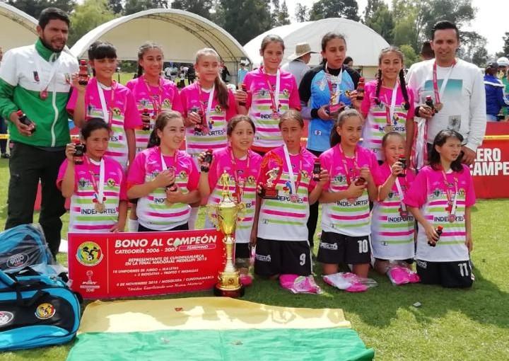IMRD CHÍA PRIMEROS CAMPEONES DE LA LIGA PONY FÚTBOL FEMENINA 2018