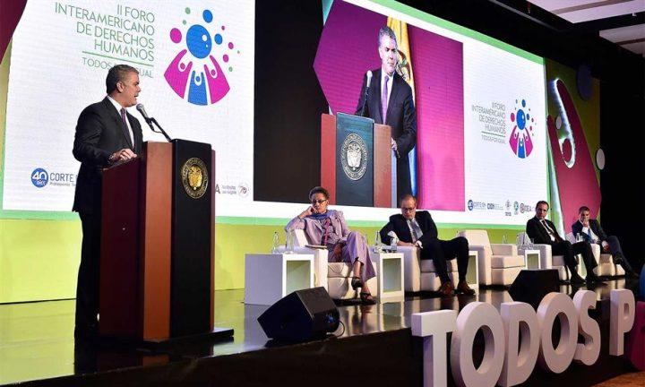 Hay que atacar la corrupción, porque es un flagelo que viola los derechos humanos: Presidente Iván Duque