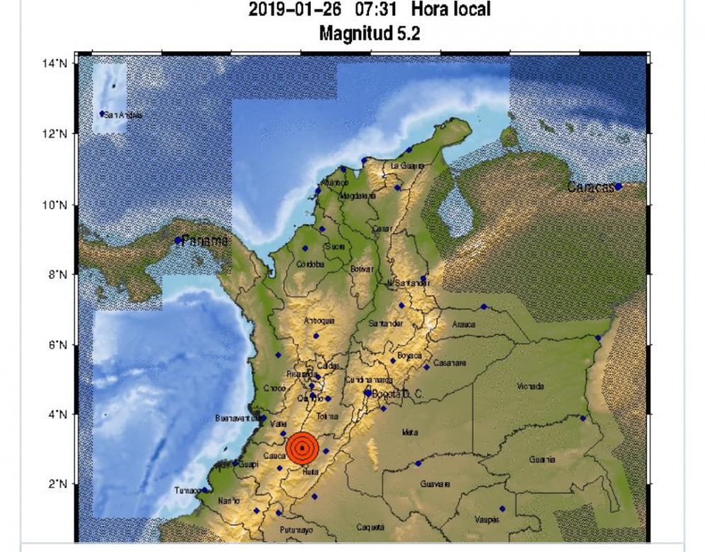 Fuerte temblor de 5.2 grados se sintió en Bogotá