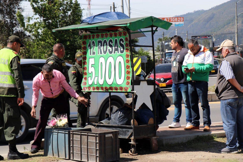 Recuperación del espacio público en Chía
