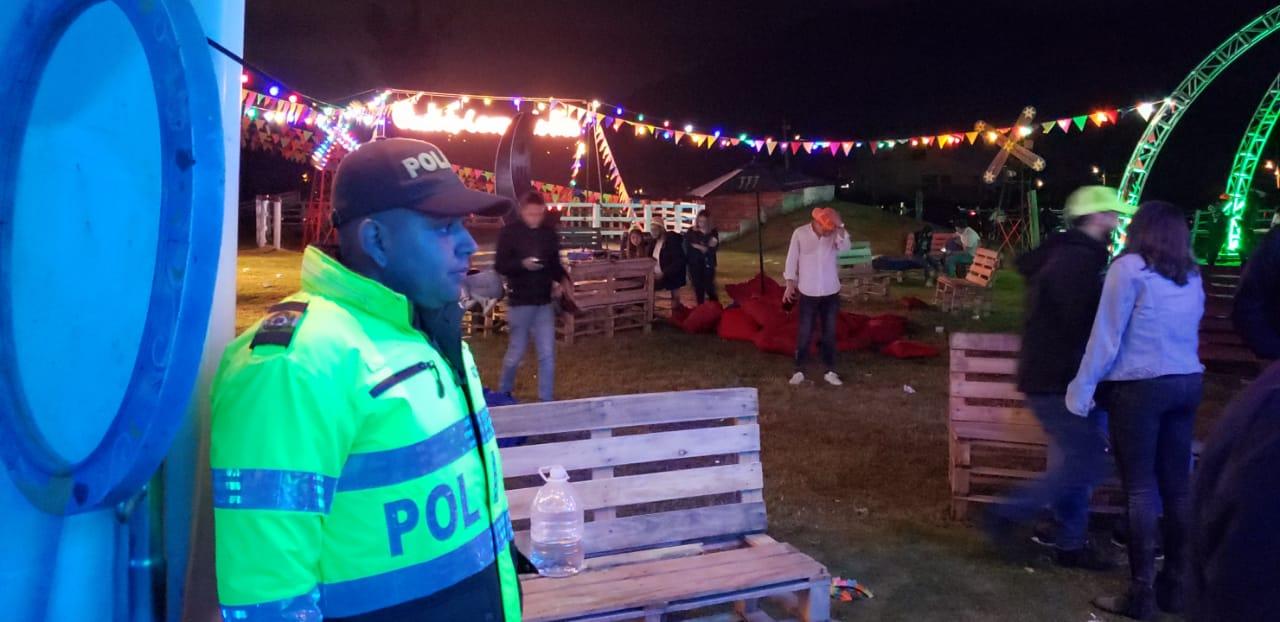 Un sellamiento y el hallazgo de una fiesta ilegal, dentro de los resultados de los operativos de este fin de semana en Chía