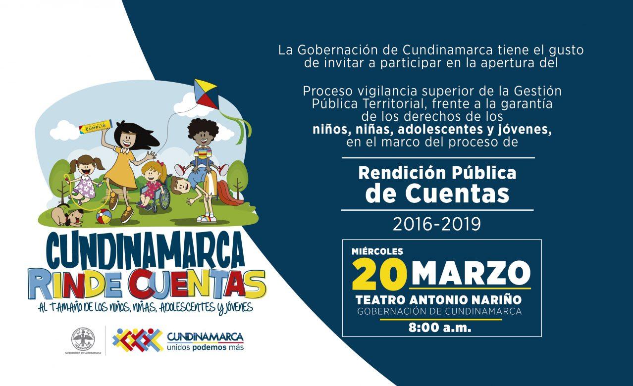Cundinamarca, lista para rendir cuentas frente a la garantía de los derechos de niños, niñas, adolescentes y jóvenes