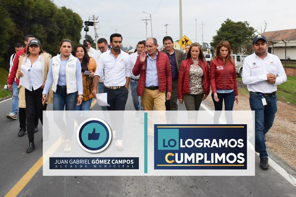 Visita del Gobernador de Cundinamarca, Jorge Emilio Rey, al Municipio de Tenjo
