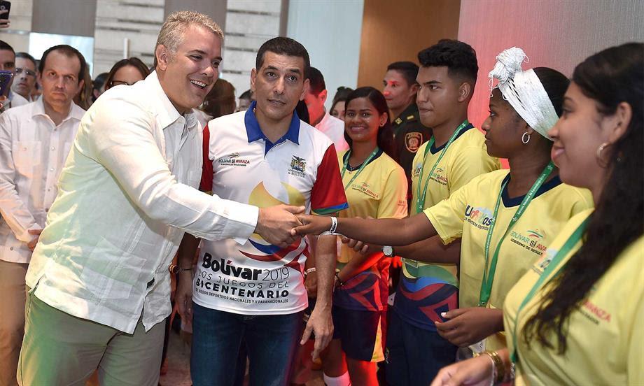 'Los Juegos Nacionales son de los deportistas y no de los contratistas', afirmó el Presidente Duque