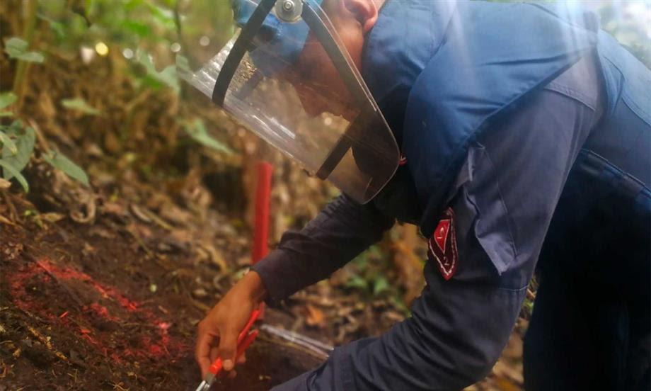Ejército Nacional despeja 12.456 metros cuadrados de sospecha de minas antipersonal en Vista Hermosa (Meta)