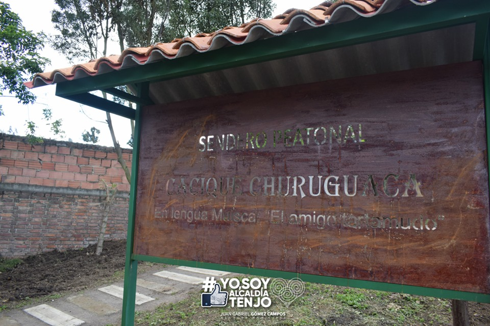 Alcalde Municipal de Tenjo, Juan Gabriel Gómez Campos, entregó obras de mejoramiento de entorno y espacio público en la Vereda Churuguaco Alto, sector cementerio