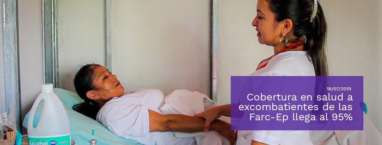 Gobierno Nacional destaca que la cobertura en salud a excombatientes en proceso de reincorporación llega al 95%
