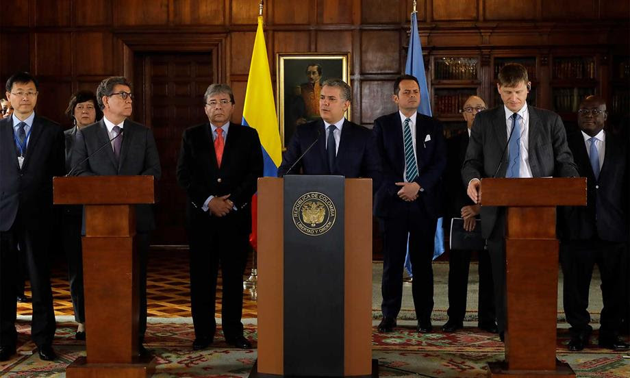 Presidente Duque solicitó al Consejo de Seguridad de la ONU prorrogar por otro año la Misión de Verificación del proceso de implementación de los acuerdos en Colombia