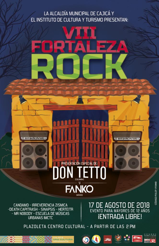 Llega la VIII edición del Festival Fortaleza Rock de Cajicá