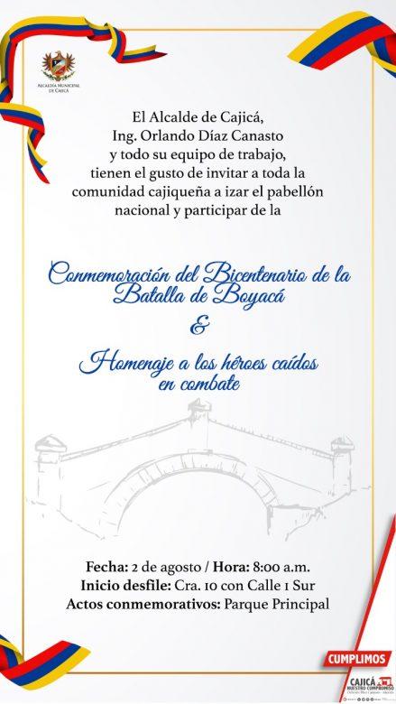 Cajicá conmemora el Bicentenario de la Campaña Libertadora