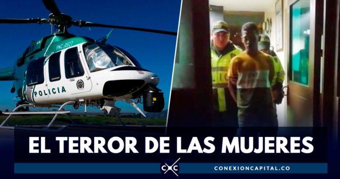 Helicóptero Halcón fue clave para capturar al terror de las mujeres en la autopista Norte