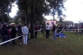 Un árbol cayó sobre una familia en el parque Simón Bolívar