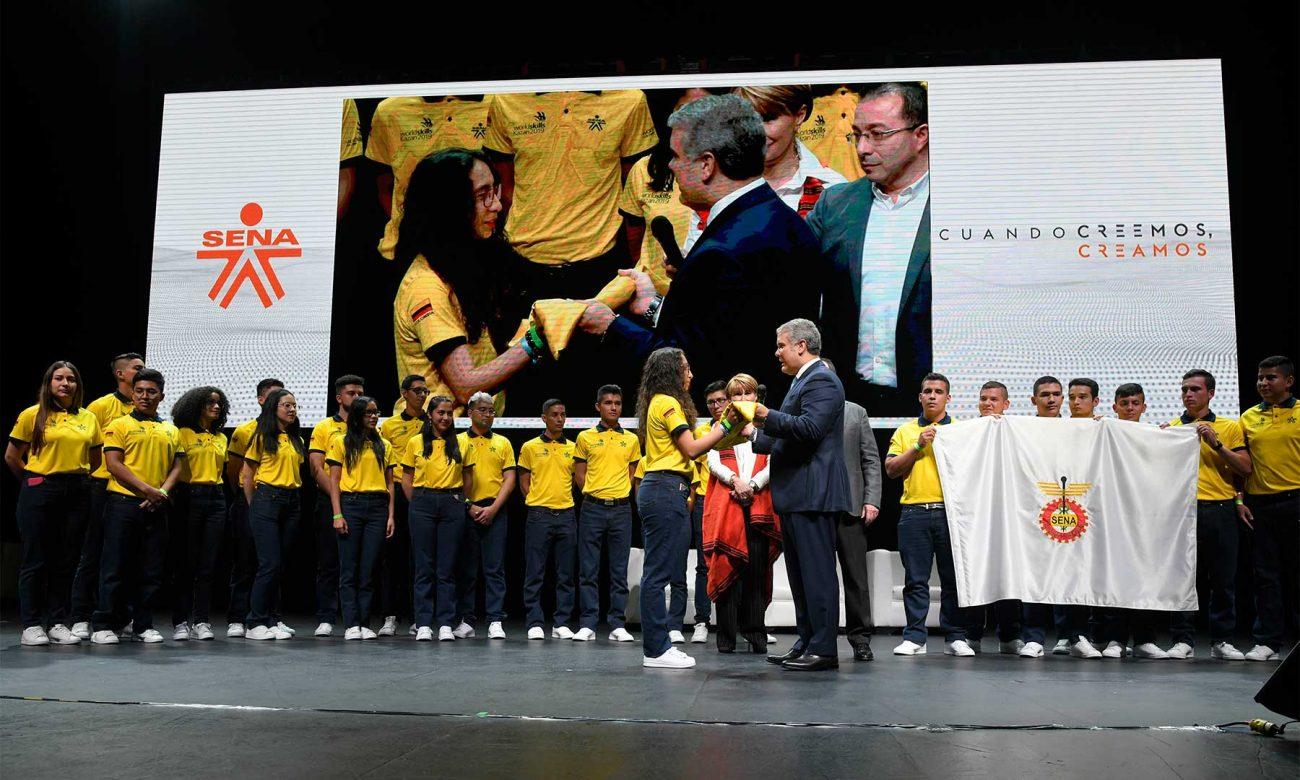 Presidente Iván Duque rindió homenaje a los aprendices del Sena que ganaron medallas en WorldSkills