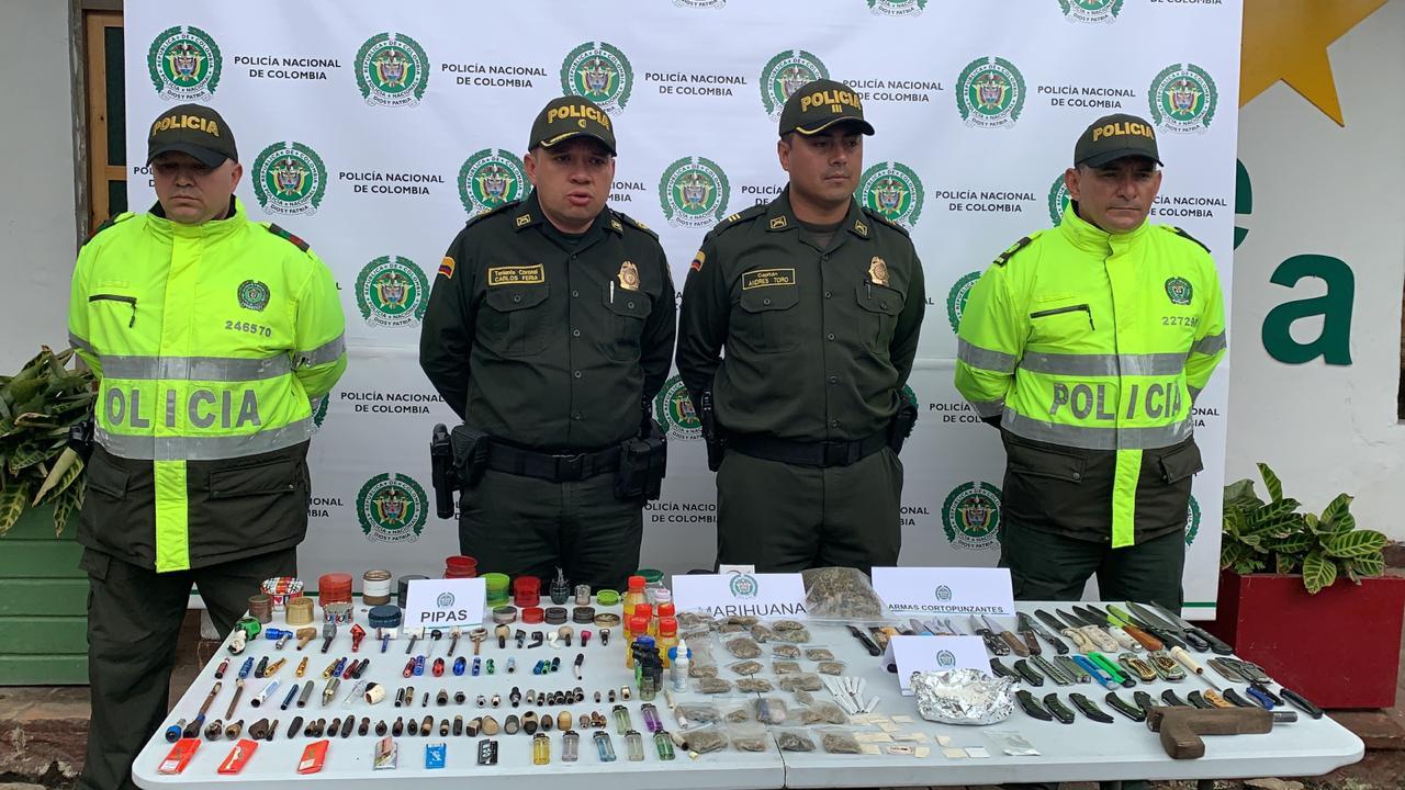 En lo corrido de 2019 en Chía se ha logrado la incautación de más de 19 mil gramos de psicoactivos.