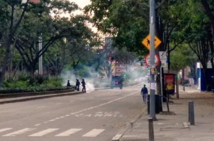 Tres heridos por disturbios de encapuchados en la Pedagógica y la Distrital