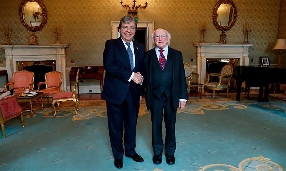 Ministro de Relaciones Exteriores se reunió con el Presidente de Irlanda, Michael D. Higgins