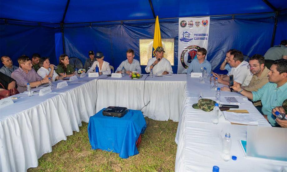 'Aquí no puede haber dudas del compromiso nuestro por avanzar en la Paz con Legalidad', afirmó el Presidente Duque al iniciar visita al antiguo ETCR de Miravalle, Caquetá