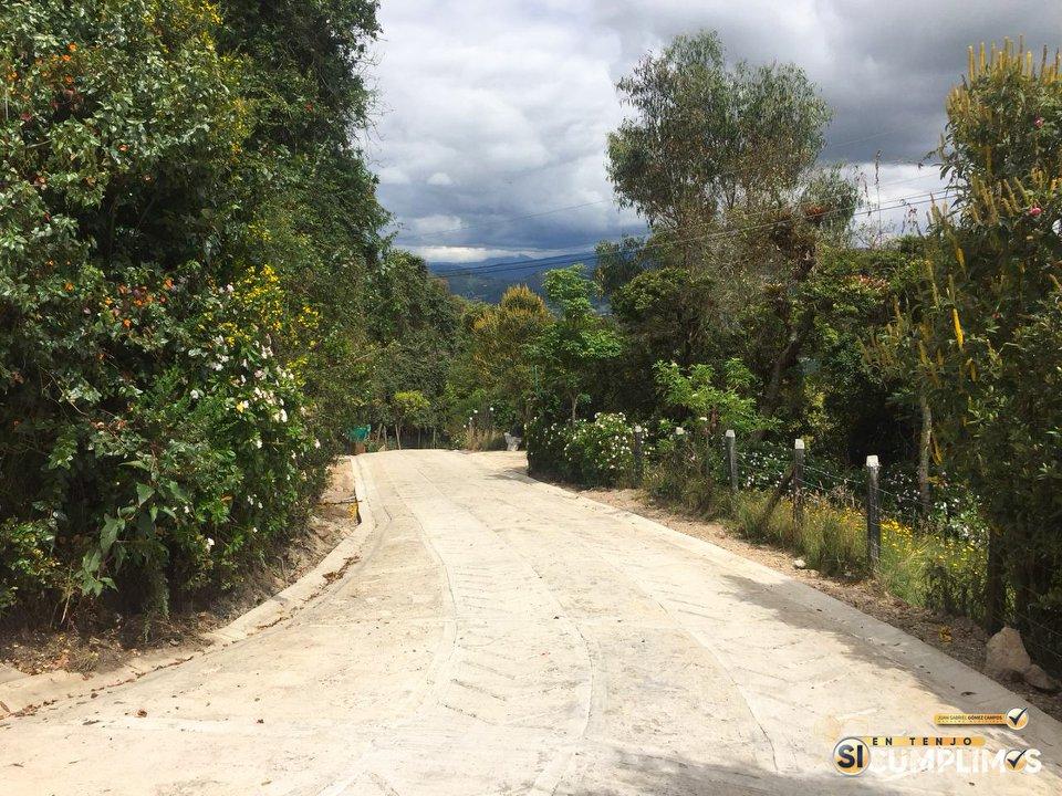 Tenjo – Una nueva Placa Huella, construimos en la Vereda Churuguaco Alto