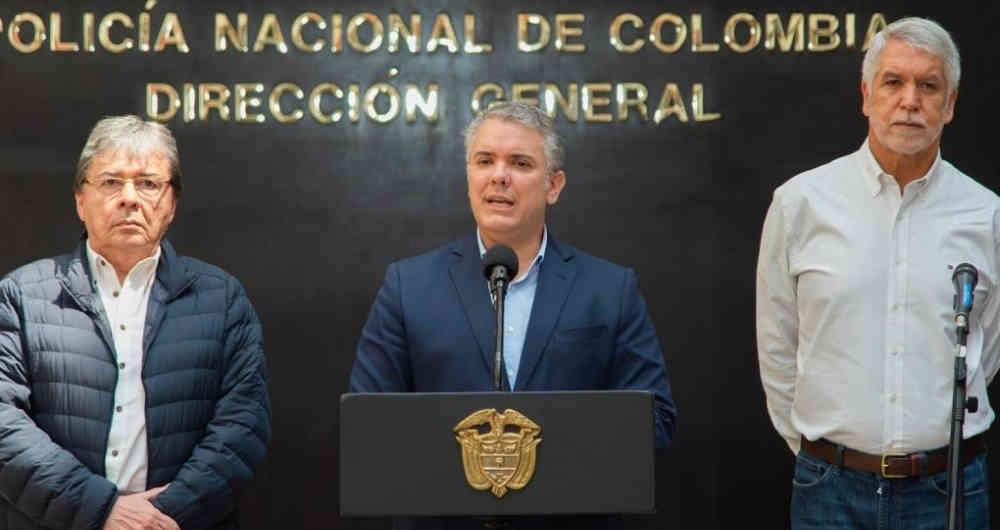 """""""Colombia debe estar unida para rechazar el vandalismo"""": Iván Duque"""