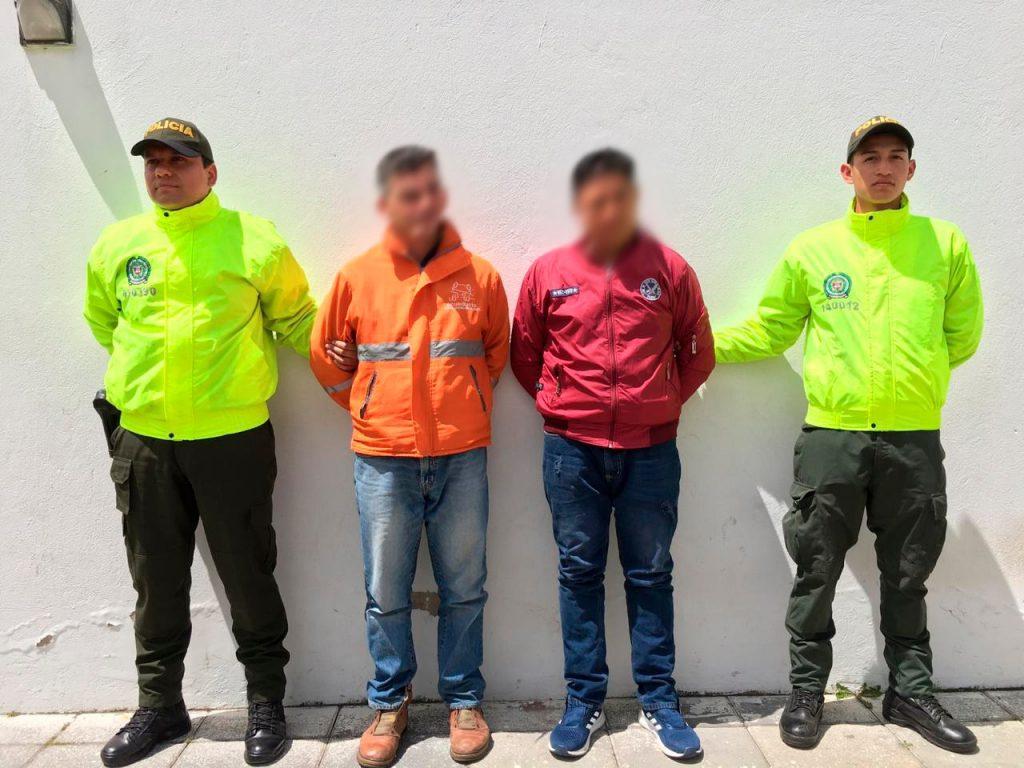 Las autoridades en Chía capturan dos sujetos por el delito de abuso sexual.