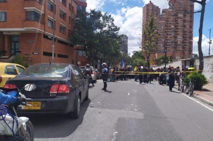 Nuevas marchas, con rumbo al Parque Nacional, taponan la Séptima, en Bogotá
