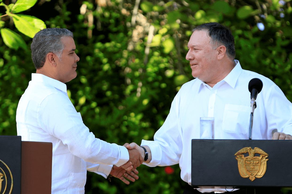 Estados Unidos le manifiesta su apoyo a Duque en las protestas en Colombia