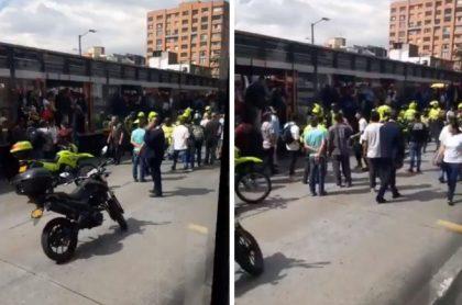 Pasajero muere arrollado por bus de Transmilenio y tiene detenida la movilidad