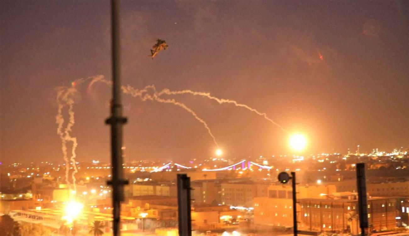 Tres cohetes impactan en la embajada de Estados Unidos en Bagdad
