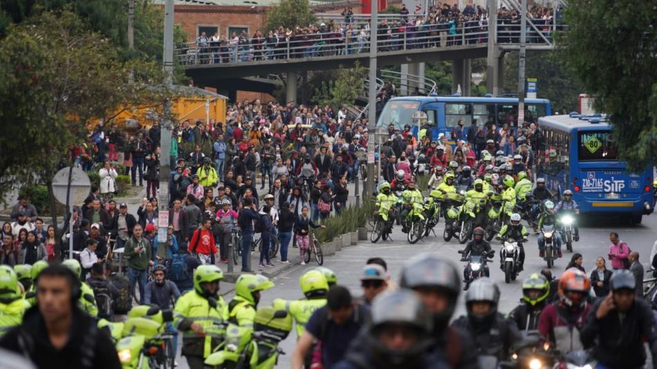 Seis estaciones vandalizadas, 62 conducidos y 9 heridos: balance de marchas en Bogotá