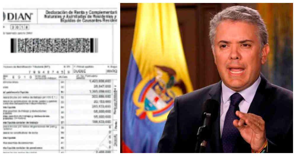 La declaración de renta del presidente Iván Duque