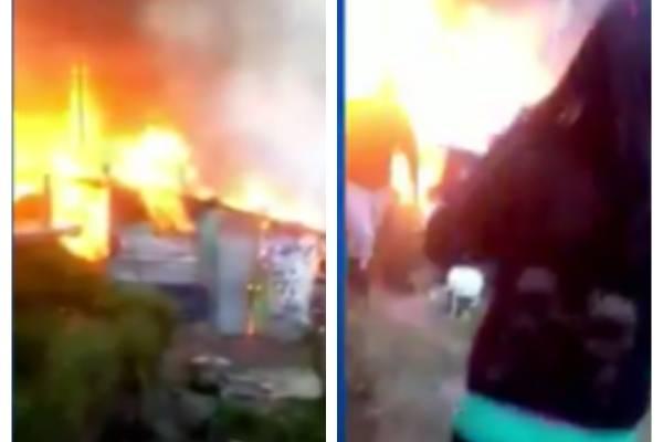 Voraz incendio consumió al menos 11 viviendas en Bogotá