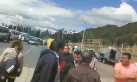 Protestas por aumento de peajes entre Sopó y La Calera, Cundinamarca