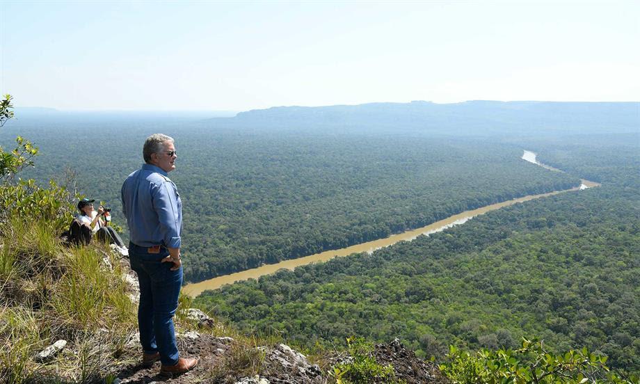 En Chiribiquete, Presidente Duque ratifica la meta de sembrar 180 millones de árboles al 2022