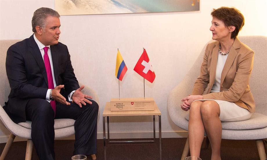 Presidente Duque llegó a Davos para participar en reunión del Foro Económico Mundial