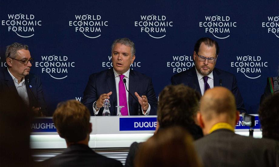 Ante el Foro Económico Mundial, Presidente Duque expuso avances de Colombia en la meta de sembrar 180 millones de árboles al 2022 y logros en materia de lucha contra la deforestación