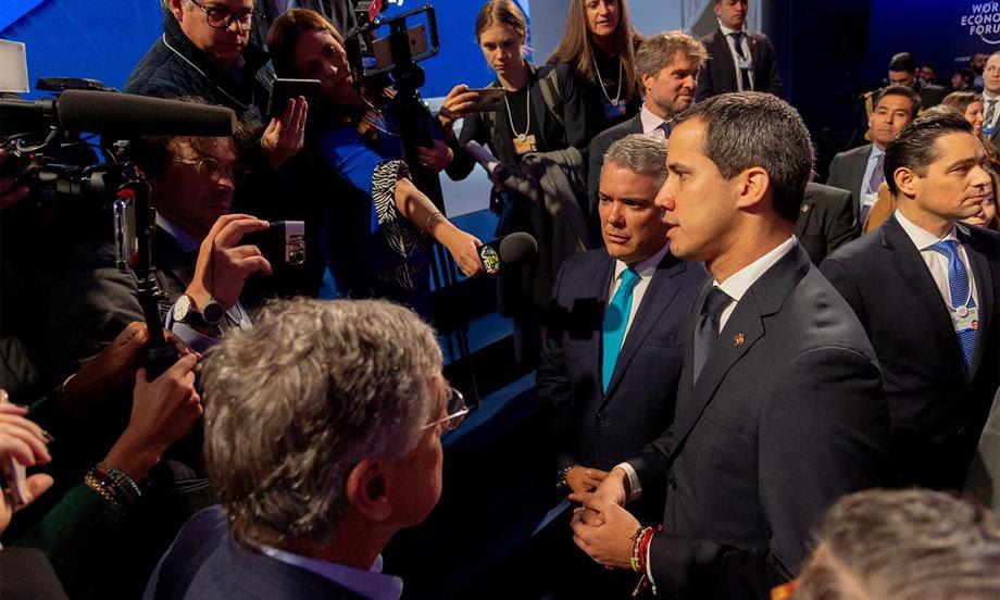 Guaidó hizo reconocimiento al Presidente Duque en Davos por apoyo a Venezuela para restablecer la democracia