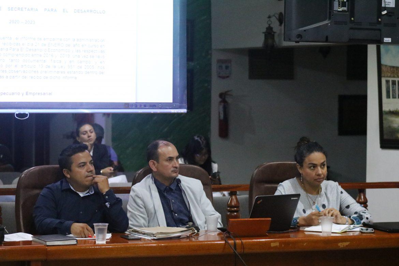 Informe de empalme al Concejo por la Secretaría de Desarrollo Económico