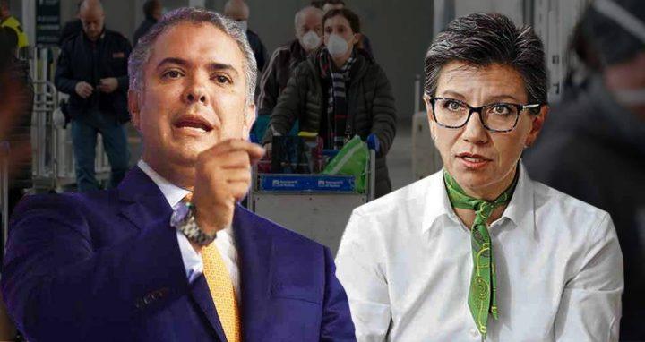 Iván Duque y Claudia López: el choque por el coronavirus