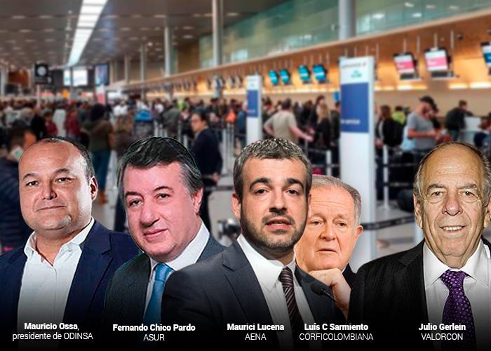 Los cuatro que mandan en los aeropuertos de Colombia