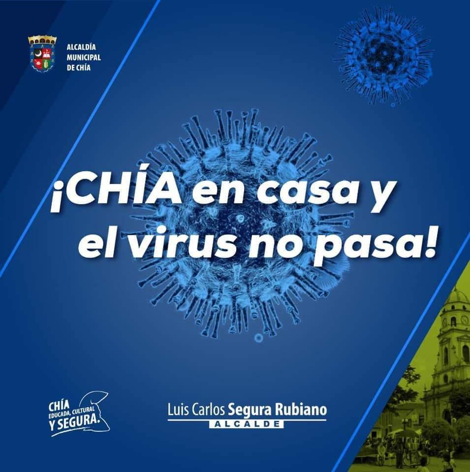 Alcalde de Chía de frente contra la pandemia
