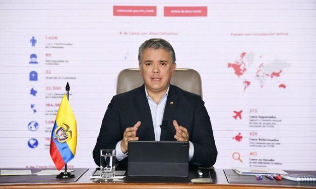 Duque anuncia que habrá aislamiento preventivo hasta el 27 de abril