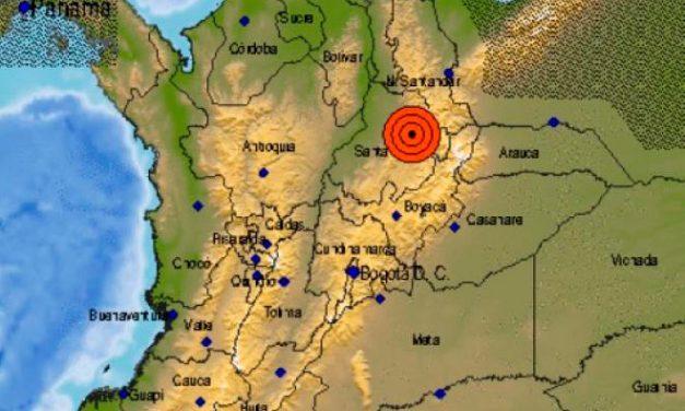 Se reportó temblor en Colombia de magnitud 5,0