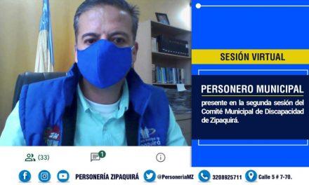 Personero de Zipaquirá presente en comité por la discapacidad