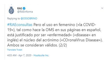 Crisis del COVID-19: sobre la escritura de coronavirus