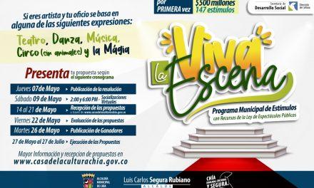 Beneficiados por 'Viva la escena' en Chía